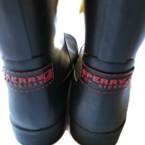 Sperry Shoes - Sperry Top Sider Rubber Rain Boots Size 7 Black